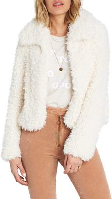 Billabong Fur Keeps Faux Fur Crop Jacket
