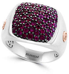 Effy Ruby, 18K Rose Gold and Sterling Silver Ring