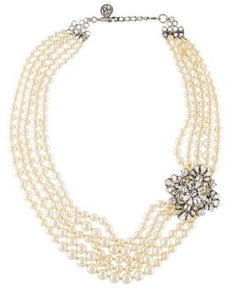 Ben-Amun Ben Amun Crystal & Faux Pearl Multistrand Necklace