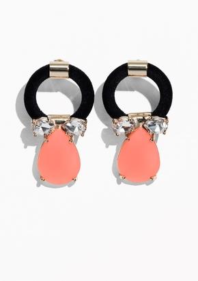Other Stories Gemstone Pendant Earrings