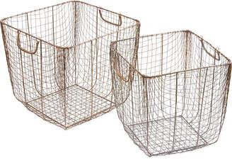 Jla Home Madison Park Moraga Wire Baskets, Set of 2