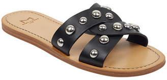 Marc Fisher Pagie Flat Studded Slide Sandals
