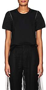 Noir Kei Ninomiya Women's Embellished Cotton Jersey T-Shirt - Black
