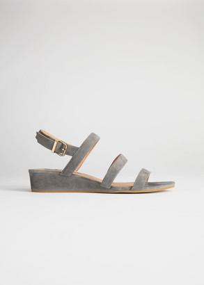 And other stories Trio Strap Suede Wedges