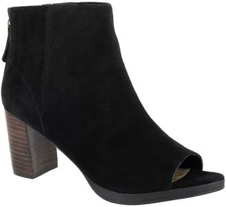 Bella Vita Leather Open Toe Booties - Lex