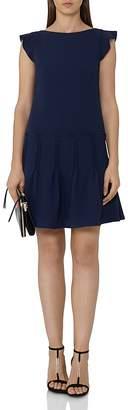 Reiss Melanie Pin-Tuck Pleated-Skirt Dress