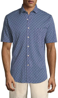 Peter Millar Cars of Cuba Short-Sleeve Sport Shirt