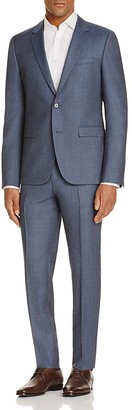 HUGO Chambray Sharkskin Slim Fit Suit $895 thestylecure.com