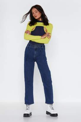 Nasty Gal Hey Mom Belted Jeans
