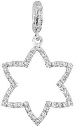 0.76ct Pave Diamond 18k White Gold Star Pendant