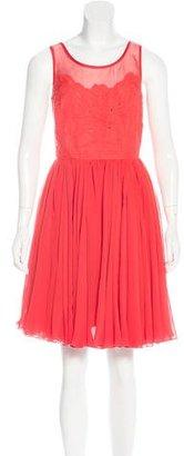 Reiss Silk Knee-Length Dress $95 thestylecure.com