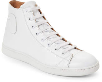 Marc Jacobs White Leather High-Top Sneakers
