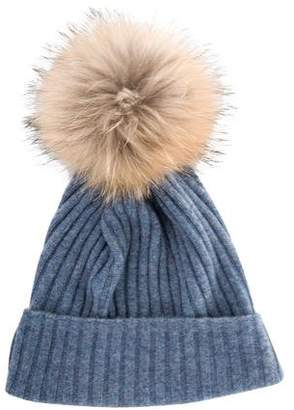 Fur Fur-Trimmed Wool Hat