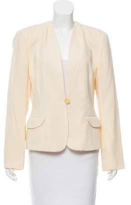 Giorgio Armani Collarless Wool Jacket