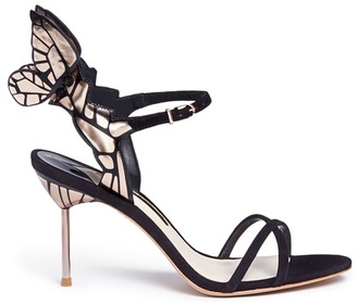 Sophia Webster 'Chiara' metallic butterfly kid suede sandals