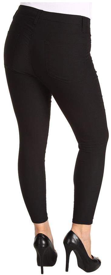 Karen Kane Plus - Plus Size Stretch Twill Skinny Jean (Black) - Apparel