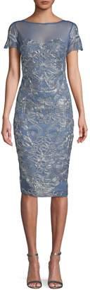 JS Collections Embellished Sheath Dress