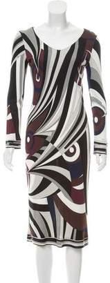 Emilio Pucci Silk Printed Midi Dress