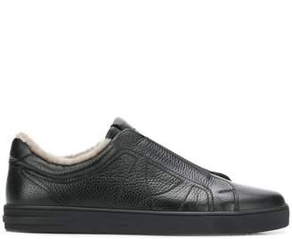Moreschi fur lining sneakers