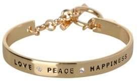 BCBGeneration Basic Love Peace Happiness Crystal Bracelet