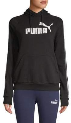 Puma Tape Raglan-Sleeve Hoodie