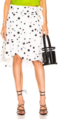 Miaou Cecilia Skirt in White Polka Dot | FWRD