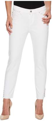 Liverpool Maya Crop with Side Ankle Rivets in Comfort Stretch Denim in Bright White Women's Jeans