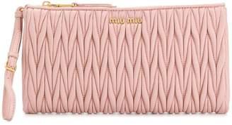 Miu Miu pleated clutch bag