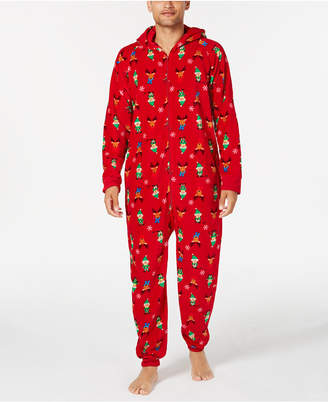Matching Family Pajamas Men's Elf Hooded One-Piece