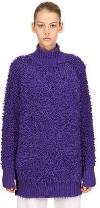 Marni Fur Effect Wool Blend Knit Sweater