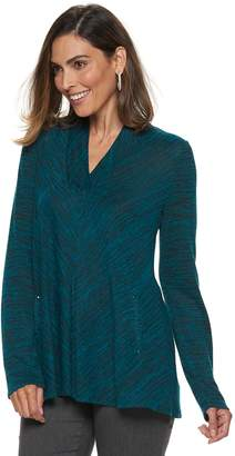 Dana Buchman Women's Space-Dyed Draped Top