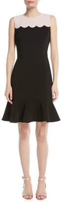 Kate Spade Scallop Sleeveless Mini Dress