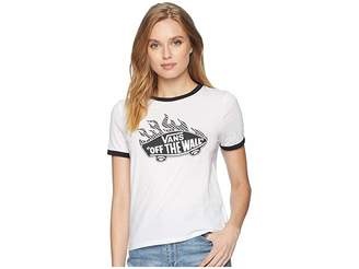 Vans Flame Check Off The Wall Ringer T-Shirt