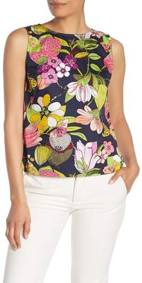 Trina Turk Lennox Floral Print Tank Top