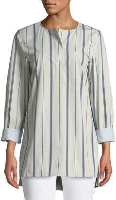 Lafayette 148 New York Tilly Sonoran Striped Blouse, Plus Size
