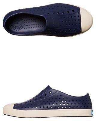 Native New Boys Kids Jefferson Shoe Rubber Blue 6
