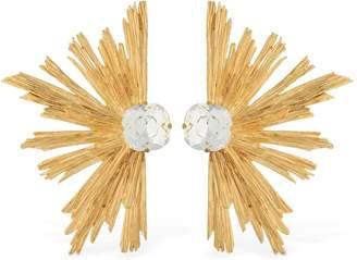 Saint Laurent Crystal Star Earrings