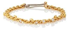 Malcolm Betts Women's Diamond Round-Link Bracelet-Gold