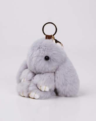 Faux Fur Bunny Key Ring