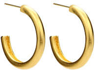 Ben-Amun Satin Round Hoop Earrings