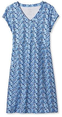 L.L. Bean (エルエルビーン) - フィットネス・ドレス、ウォーターカラー・プリント