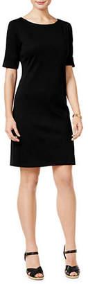 Karen Scott Short-Sleeve Cotton Dress