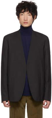 Maison Margiela Grey Wool Minimal Blazer