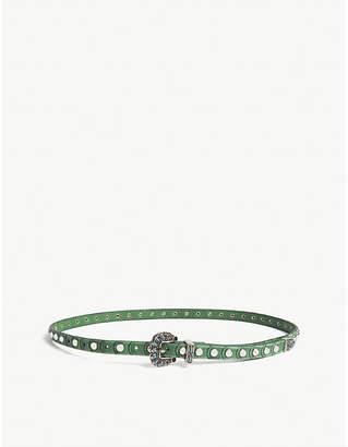Zadig & Voltaire Malibu studded leather belt
