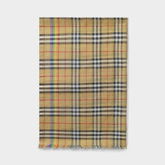 Burberry Gauze Scarf In Beige And Multicolor Wool