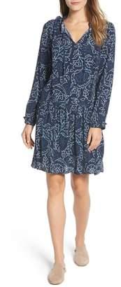 Caslon Ruffle Split Neck Dress