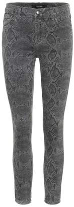 J Brand 835 cropped mid-rise skinny jeans