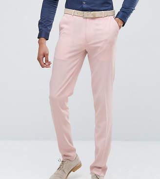 Hatch ASOS DESIGN ASOS TALL Wedding Skinny Suit Pants In Pink Cross