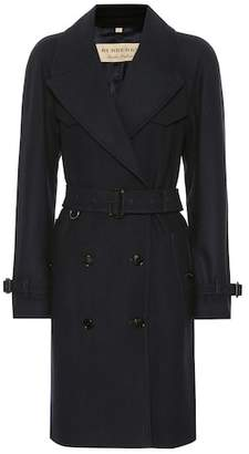 Burberry Herringbone wool-blend trench coat