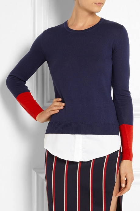 Altuzarra Walkaloosa cotton-trimmed wool sweater